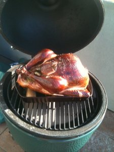 Turkey on the Big Green Egg